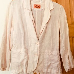 Juicy Couture linen blazer S